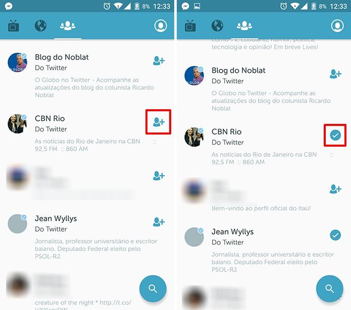 Periscope exibe sugestões com base em quem usuário segue no Twitter ou mostra pessoas mais populares na rede (Foto: Reprodução/Elson de Souza)