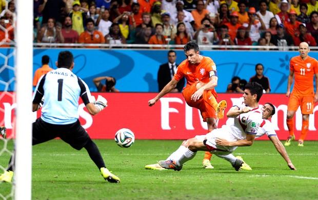 Robin van Persie  jogo Holanda x Costa Rica (Foto: AP)