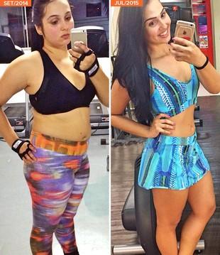 eu atleta minha historia Maiara Cavalcante antes depois (Foto: eu atleta)