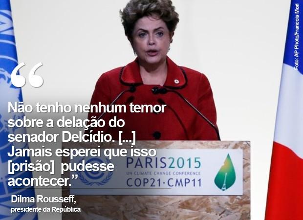 A presidente Dilma Rousseff, em imagem de arquivo (Foto: AP Photo/Francois Mori)