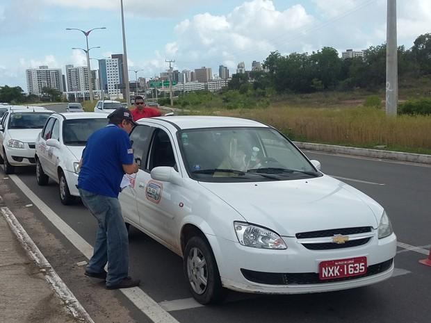 Verificação de taxímetros irá ocorrer na região da Via Expressa (Foto: Divulgação/Inmeq)