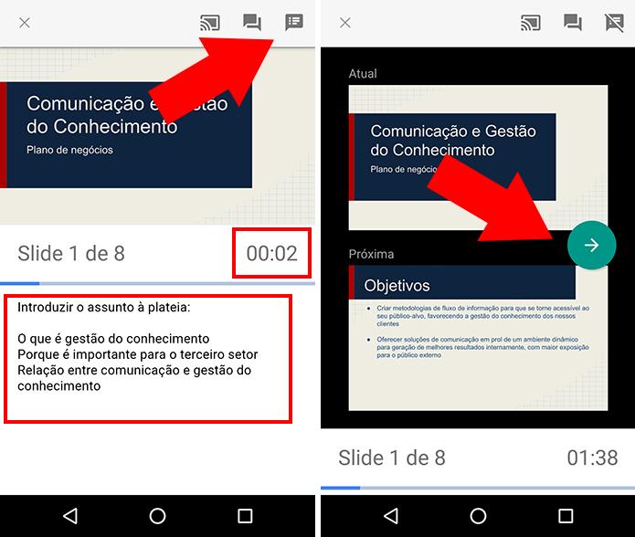 Acompanhe os slides com ou sem anotações (Foto: Reprodução/Paulo Alves)