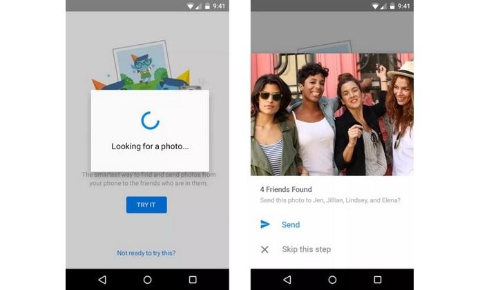 Recurso do Messenger envia fotos para amigos que estejam na imagem (Foto: Divulgação)
