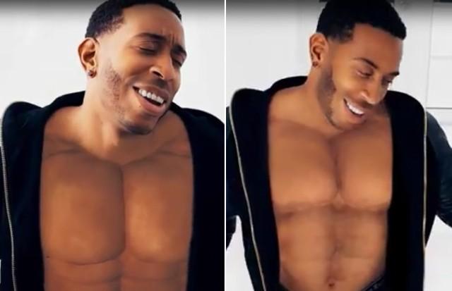 Ludacris: músculos feitos no Photoshop (Foto: Reprodução)