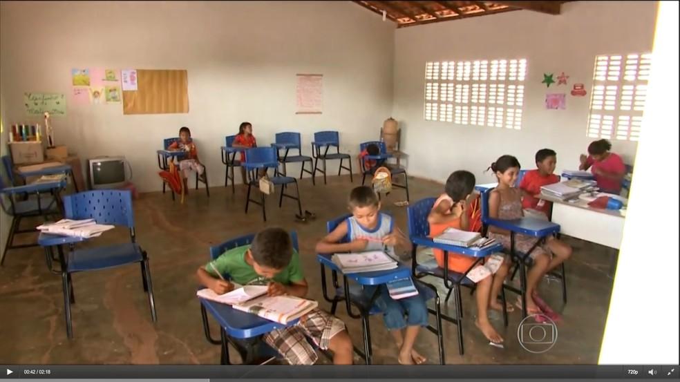 Alunos de escolas municipais de Bom Jardim (MA) não tinham merenda (Foto: Reprodução)