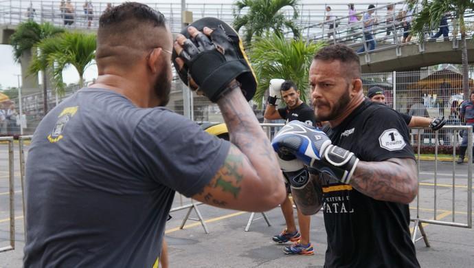 Treino aberto do 1º Round Combat, em Natal Felipão Dantas (Foto: Augusto Gomes/GloboEsporte.com)