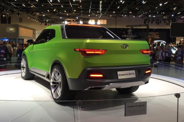 Picape Hyundai Creta STC no Salão do Automóvel de São Paulo 2016 (Foto: Autoesporte)