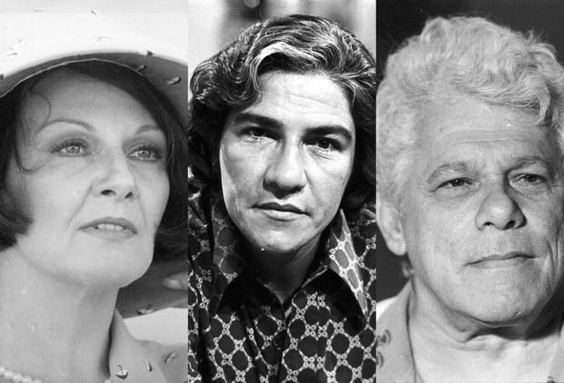 Yara Lins, Cláudio Calvalcanti e Dionísio Azevedo foram alguns dos atores de Pai Herói que já morreram (Foto: ACERVO – TVGLOBO)