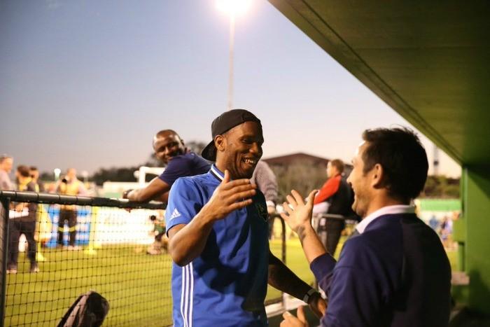 BLOG: Antes de amistoso, Drogba e Lampard se divertem com reencontro