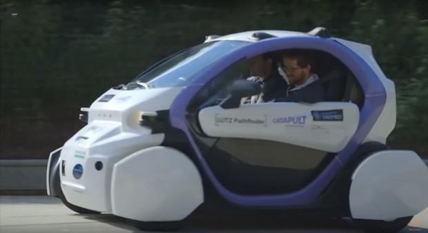 Carro elétrico autônomo Oxbotica (Foto: Reprodução/Youtube)