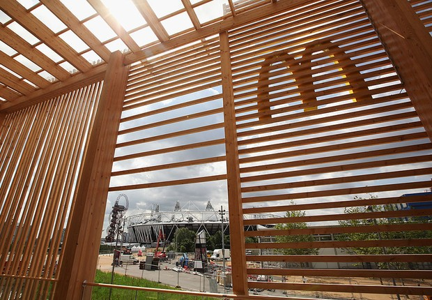 Restaurante do McDonald's na sede dos Jogos Olímpicos de Londres (Foto: Oli Scarff/Getty Images)
