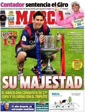 Messi - majestade - Marca - título (Foto: Reprodução)