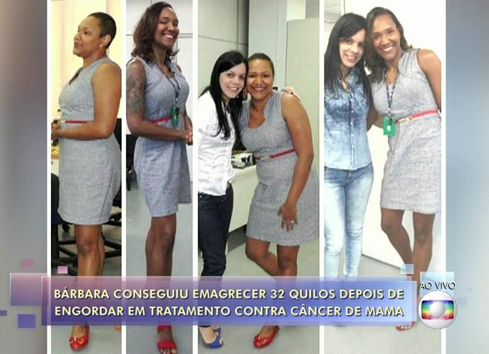 Bárbara emagreceu 32 quilos (Foto: TV Globo)