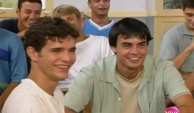 Daniel de Oliveira e Márcio Kieling na temporada 1999 de Malhação (Foto: Reprodução)