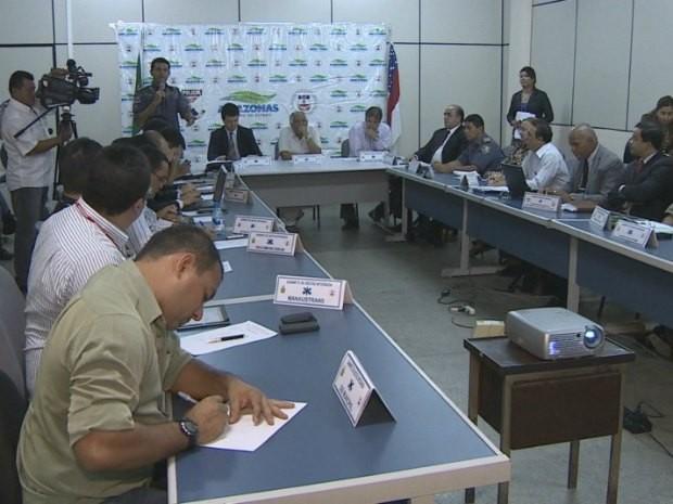 Novo centro de segurança será instalado em Manaus para Copa-2014 (Foto: Reprodução/TV Amazonas)