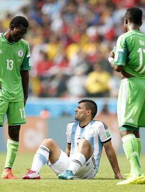 Aguero Argentina x Nigéria (Foto: EFE)
