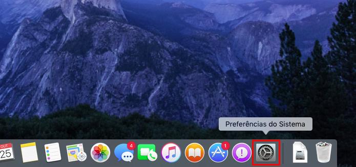 Acessando as Preferências do Sistema no MacOS (Foto: Reprodução/Edivaldo)