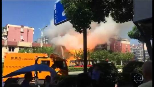 Explosão em restaurante na China deixa mortos e feridos