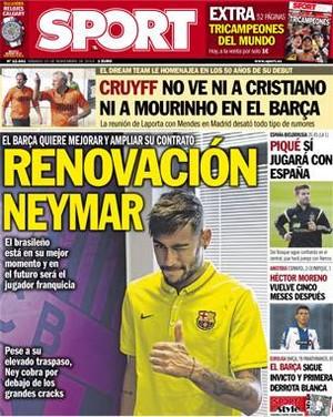 Barça deseja renovar com Neymar (Foto: Reprodução)