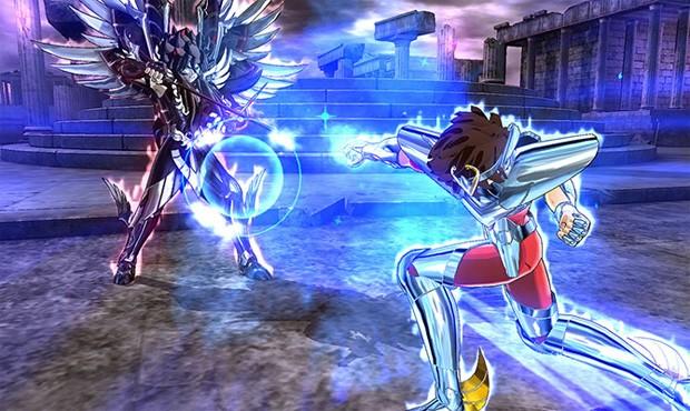 Seiya ataca Hades em 'Cavaleiros do Zodíaco: Alma dos soldados' (Foto: Divulgação)