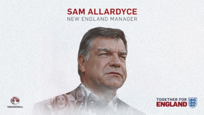 Sam Allardyce Inglaterra (Foto: Divulgação)