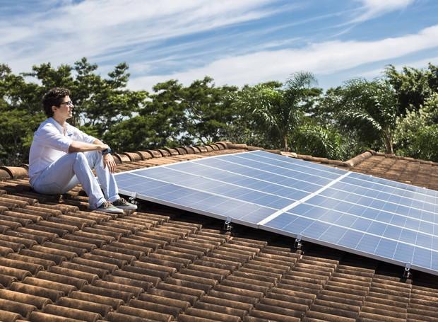 placa-solar-sustentabilidade-arquitetura-sustentável (Foto: Divulgação/Projeto Blue Sol)