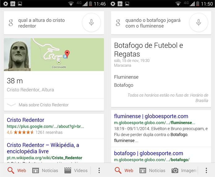 Pergunte naturalmente ao Google Now e receba resultados precisos (Reprodução)