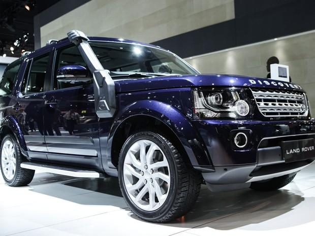 Land Rover Discovery HSE é apresentado no Salão de São Paulo 2014 (Foto: Caio Kenji/G1)