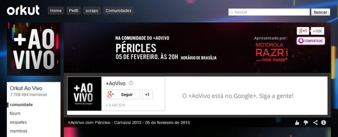 Orkut Ao Vivo (Foto: Reprodução/Carol Danelli)