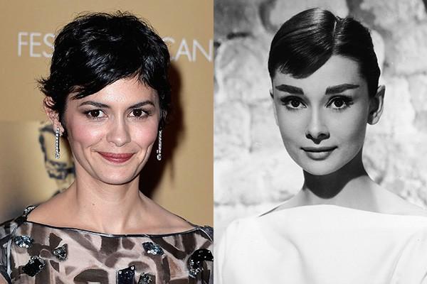 Será que essa semelhança é uma coisa típica de Audreys europeias? A francea Audrey Tautou, mais conhecida por 'O Fabuloso Destino de Amèlie Poulain', é a cara da belga Audrey Hepburn.  (Foto: Getty Images)