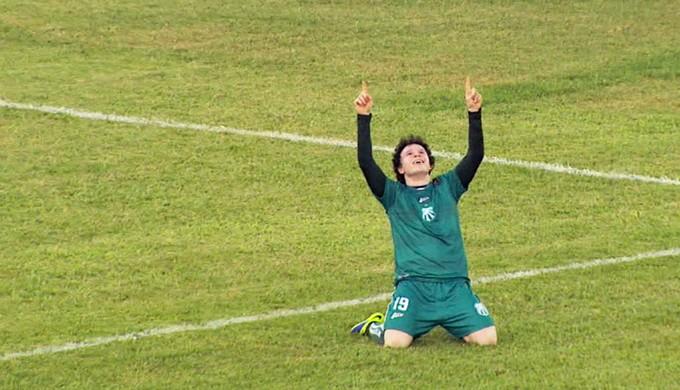 Cristiano marcou dois gols na vitória da Caldense sobre o Mamoré por 6 a 1 (Foto: Reprodução EPTV)
