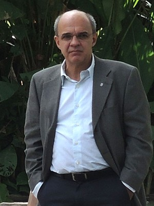 Eduardo Bandeira no Ninho do Urubu (Foto: Carlos Mota)