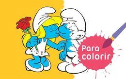 Para colorir: Smurfs azuis?