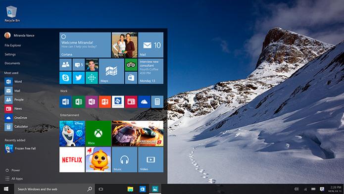Bug impedia acesso a aplicativos da Windows Store, E-mail e Calendário (Foto: Reprodução/Microsoft)