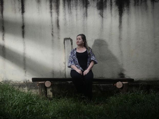 Cilene caiu em depressão após a igreja onde ela estava na Zona Sul de São Paulo desabar (Foto: Caio Kenji/ G1)