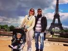 Luana Piovani dança com o marido Pedro Scooby nas ruas de Paris