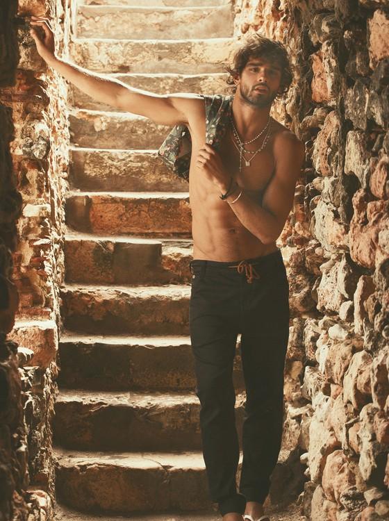 Marlon é um dos modelos brasileiros de maior sucesso no exterior (Foto: André Passos)