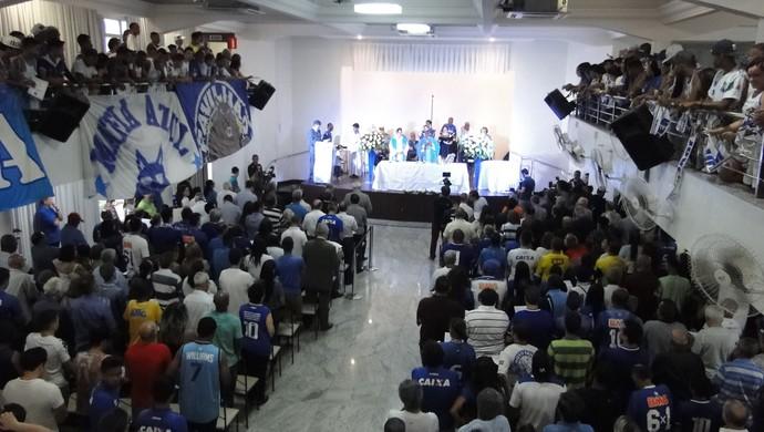Missa em Ação de Graças pelos 96 anos do Cruzeiro (Foto: Marco Antônio Astoni - GloboEsporte.com)