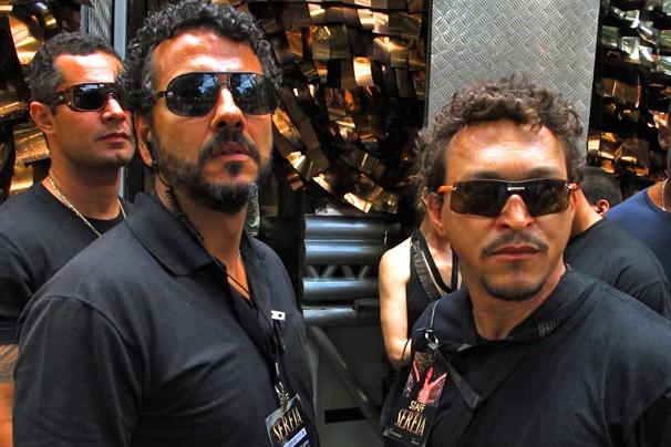 Agostinho Matoso, o Augustão (Marcos Palmeira), e seu amigo Vavá (Fabio Lago), em O Canto da Sereia (Foto: Estevam Avellar/Rede Globo)