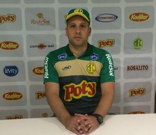 Raul Cabral, técnico, Mirassol (Foto: Vinicius de Paula / Agência Mirassol FC)