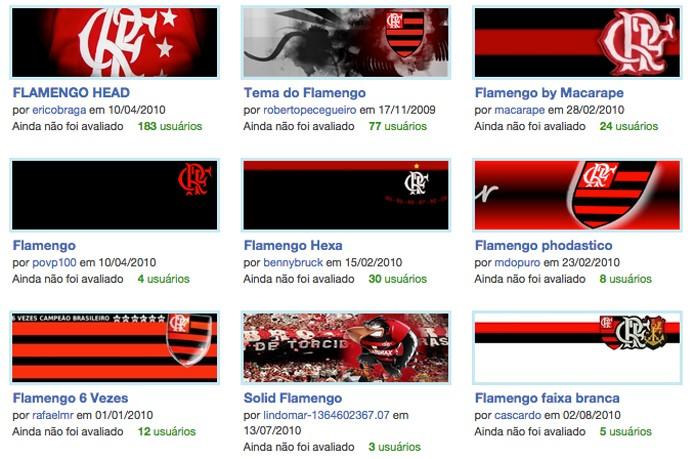 Time do Flamengo conta com mais de 200 temas gratuitos (Foto: Reprodução/André Sugai)