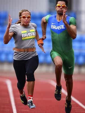 Terezinha Guilhermina treina em Manchester ao lado do atleta-guia Guilherme  Santana (Foto  96f47469b8297