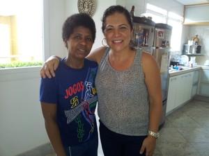 Carmem Lúcia diz que pretende continuar com a funcionária, mesmo tendo que atender os novos direitos (Foto: Juliana Borges/ G1 ES)