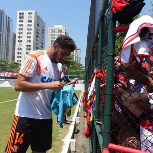 Wallace, Treino do Flamengo (Foto: Carlos Mota / Globoesporte.com)