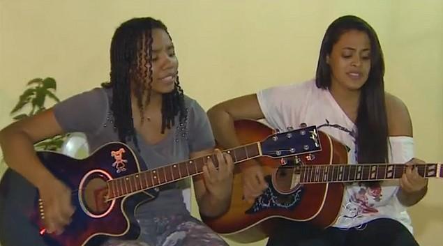 Pais e filhas tem a mesma paixão, a música (Foto: Amazônia em Revista)