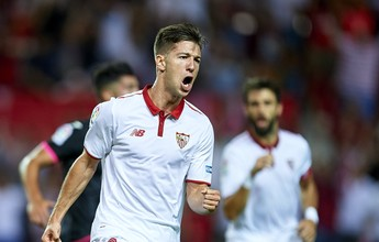 Ganso fica no banco, Vietto faz dois, e Sevilla vence partida de 10 gols