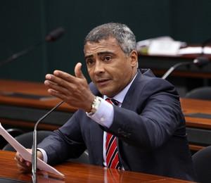 Romário na Câmara (Foto: Agência Câmara/Divulgação)