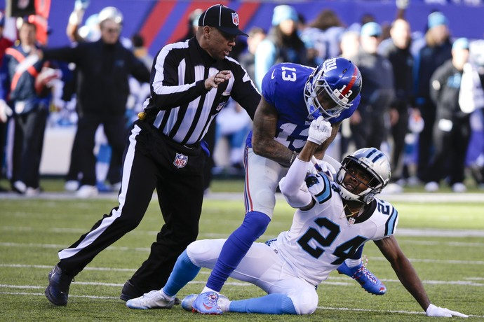 Odell Beckham Jr., Josh Norman, New York Giants x Carolina Panthers, NFL (Foto: AP)