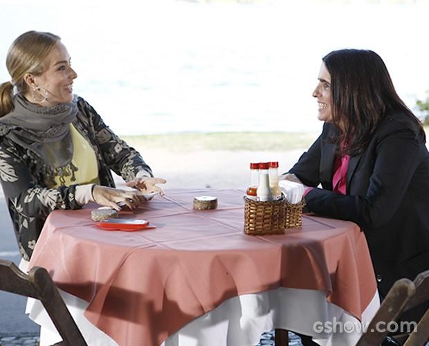 Angélica e Malu Mader (Foto: Inácio Moraes/TV Globo)