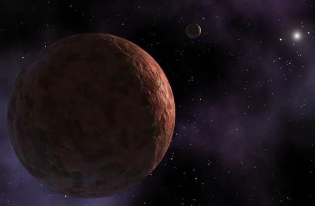 Esta representação artística mostra o planeta anão Sedna, que antes era considerado um dos objetos mais distantes  (Foto: Nasa/JPL - Caltech/R.Hurt)